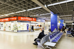 Departure lounge inside Gru Airport in Sao Paulo, Brazil. Royalty Free Stock Images