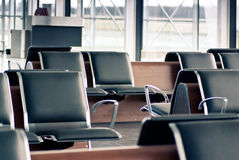 Departure lounge with sits Royalty Free Stock Image