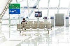 Departure lounge in the Suvarnabhumi International Airport in Bangkok Royalty Free Stock Image