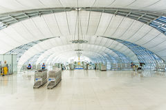 Departure lounge in the Suvarnabhumi International Airport in Bangkok Stock Photo