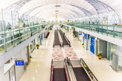 Departure lounge in the Suvarnabhumi International Airport in Bangkok Royalty Free Stock Photos