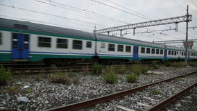 Departure of a Passenger Train. I shoot this in Pisa, Italy stock video