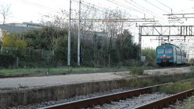 Departure of a Passenger Train. Regional Train from the Station of Pisa San Rossore stock video