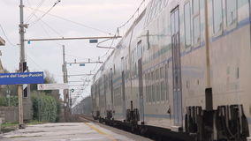 Departure of a Passenger Train stock footage