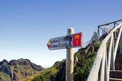 Departure for Pico Ruivo (Madeira) Stock Photo