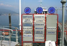 Departure pier of the boats in Italy royalty free stock photos