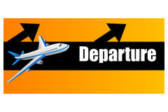 Departure plane Stock Images