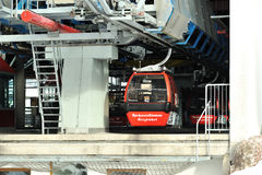 Cable cars in Kitzbuhel Royalty Free Stock Photo