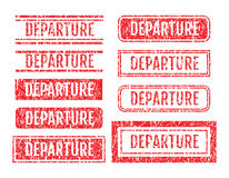 Departure Rubber Stamps Grunge Style With Scratches Set Royalty Free Stock Image