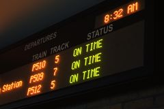 Departure schedule Stock Photos