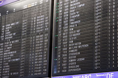 Departure schedule board in airport Royalty Free Stock Image