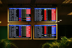Departure on a screen Royalty Free Stock Photo