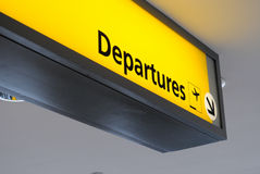 Departure Sign. At an airport Royalty Free Stock Images