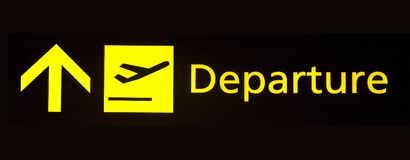 Departure sign Royalty Free Stock Photo