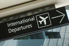 Departure sign Royalty Free Stock Image