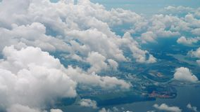 Departure from Singapore. Aerial view Singapore, view fom departing aircraft stock footage