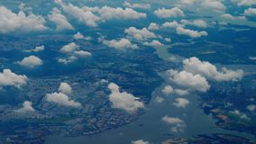 Departure from Singapore. Aerial view Singapore, view fom departing aircraft stock video
