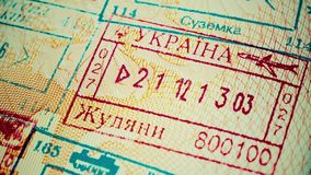 Departure stamp stock footage