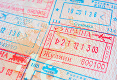 Departure stamp Stock Photo