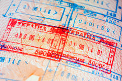 Departure stamp Royalty Free Stock Image
