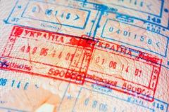 Departure stamp Royalty Free Stock Image