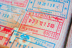 Departure stamp Royalty Free Stock Photography