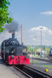 Departure of a Steam Train Royalty Free Stock Photos