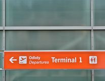 Departure terminal sign Stock Image