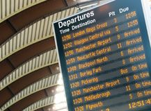 Departure timetable Royalty Free Stock Photo