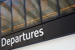 Departures stock photography