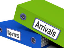 Departures Arrivals Folders Show Holidays Royalty Free Stock Photos