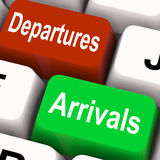Departures Arrivals Keys Mean Travel And Vacation Royalty Free Stock Photo