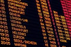 Departures board Stock Photo