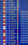 Departures board Royalty Free Stock Image