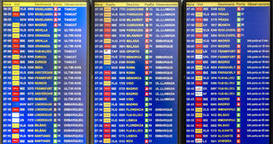 Departures board Stock Images