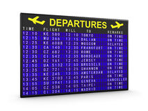 Departures board Stock Photos
