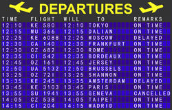 Departures board Royalty Free Stock Images