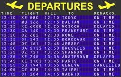 Departures board vector illustration