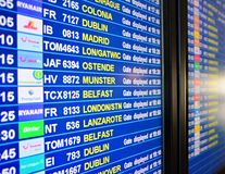 Departures board Royalty Free Stock Photos