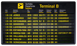 Departures board isolated Stock Photography