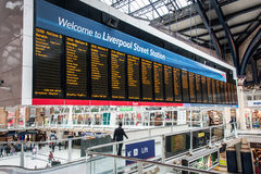 Departures from Liverpool Street Stock Image
