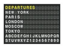 Departures Stock Image