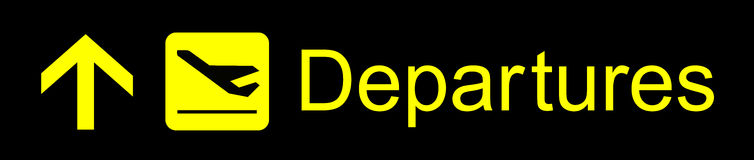 Departures Sign Stock Images