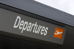 Departures sign Royalty Free Stock Images