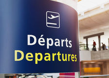Departures sign Royalty Free Stock Photo