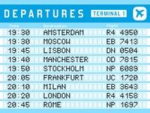 Departures vector Stock Image
