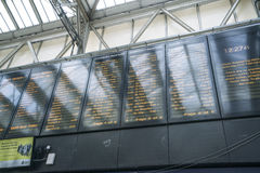 Departures from Waterloo Station - London England  UK Royalty Free Stock Photography