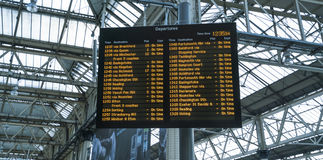 Departures from Waterloo Station - London England  UK Stock Photos