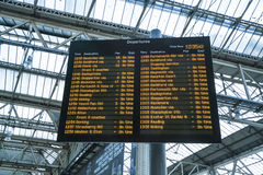 Departures from Waterloo Station - London England  UK Stock Photography