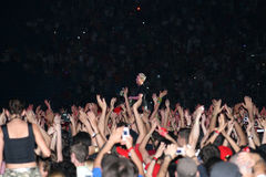 Depeche Mode. Live in Bucharest, 2006, on National Stadium (Lia Manoliu royalty free stock image